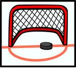 Hockey Net Free Vector Art.