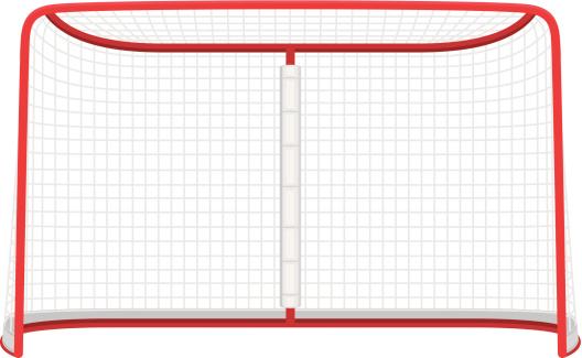 Hockey net clipart.