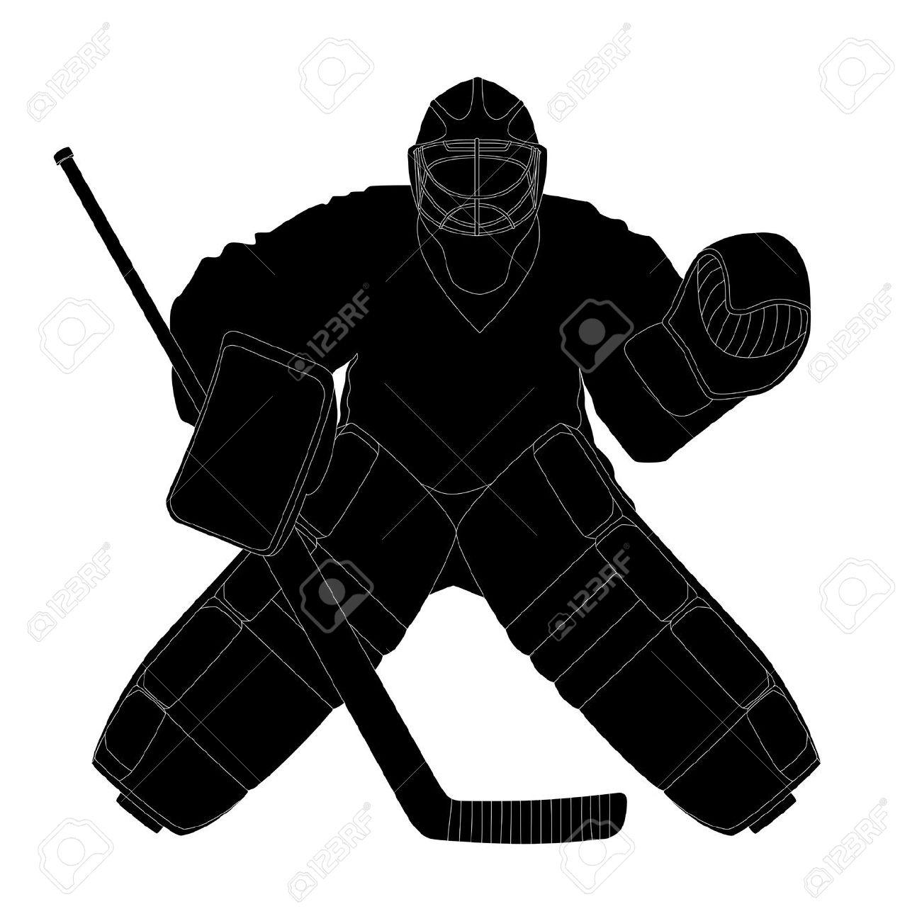 Hockey Goalie Clipart.