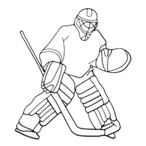 Similiar Hockey Goalie Outline Keywords.