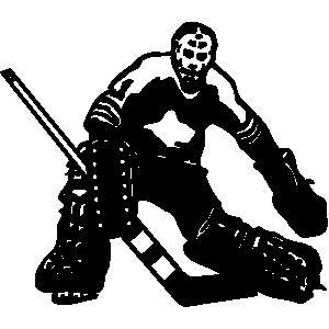Ice Hockey Goalie Clipart.