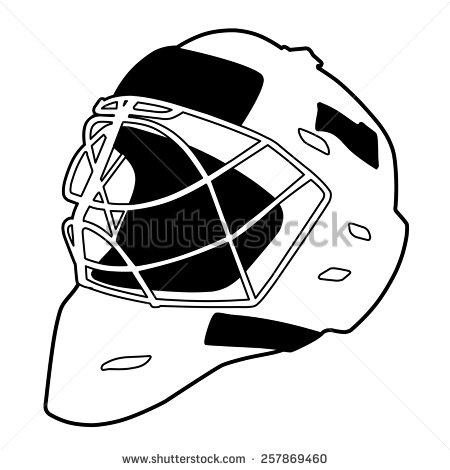 Goalie Mask Stock Images, Royalty.