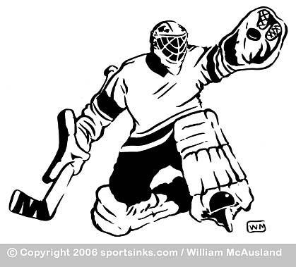 Hockey Goalie Clipart Black And White 20 Free Cliparts Download