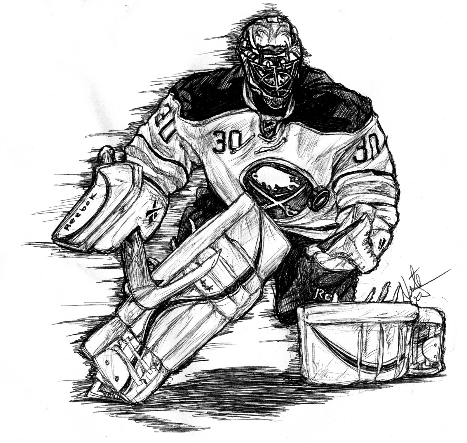 Hockey Goalie Clipart.