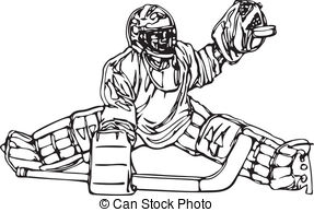 Hockey Goalie Clipart Black And White.