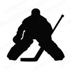 Girl Hockey Goalie Clipart.