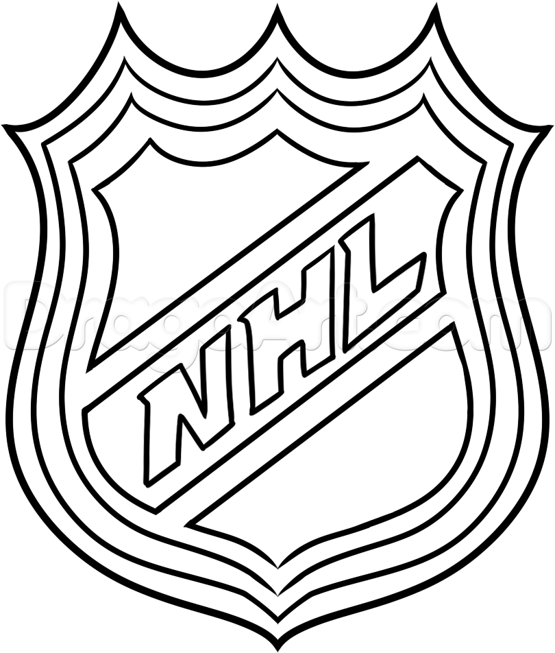 Nhl Hockey Logos Colouring Pages.