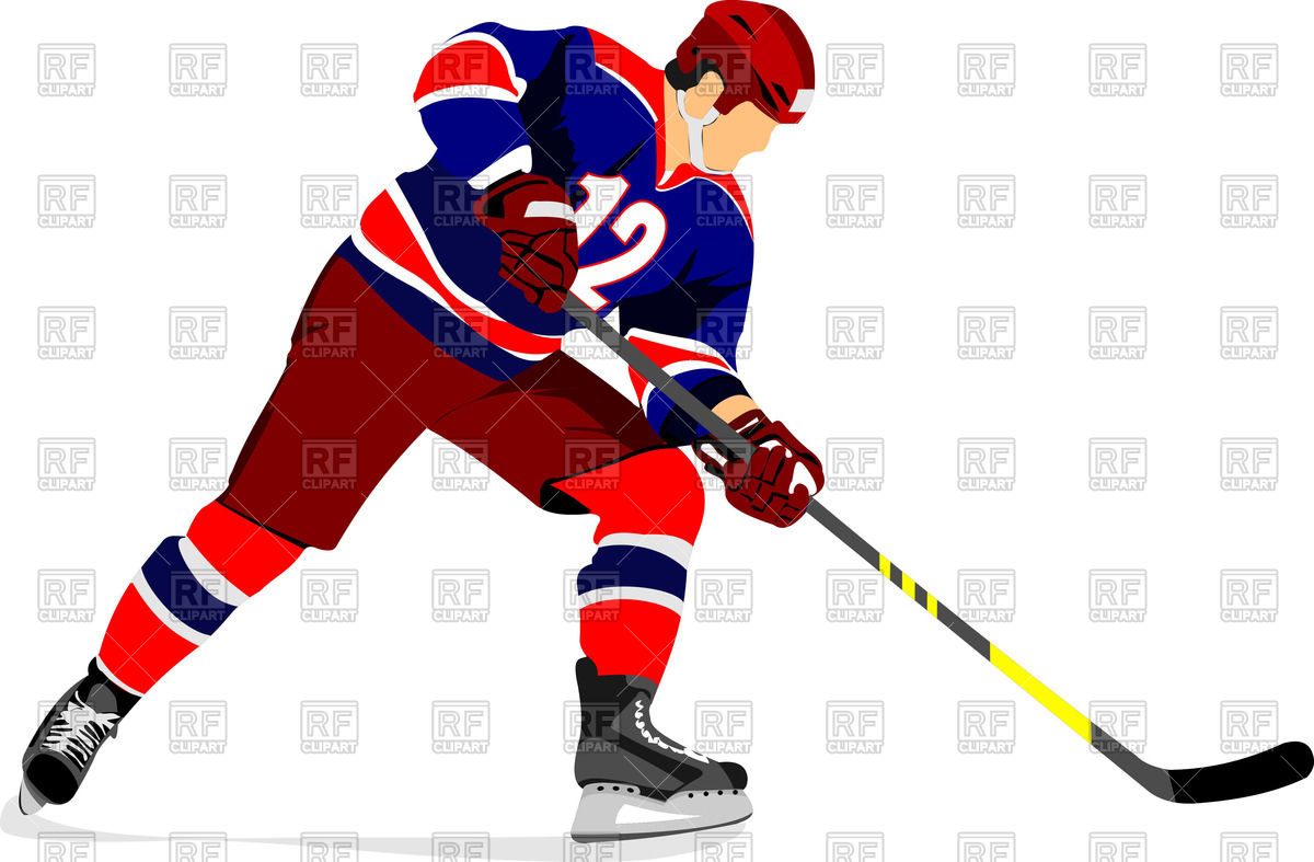Ice hockey player Stock Vector Image.