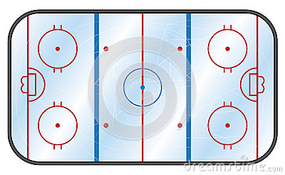 Ice Hockey Rink Royalty Free Stock Photo.