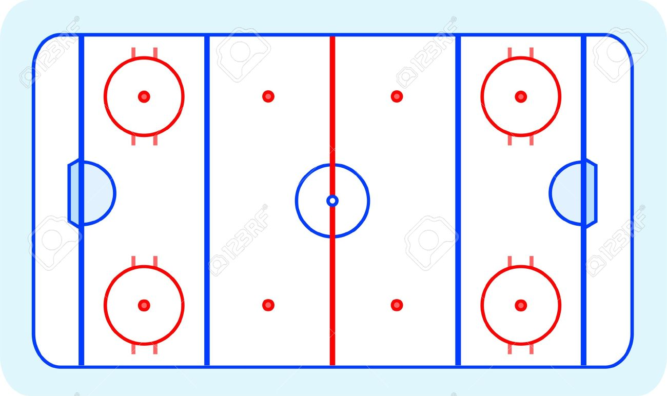 Hockey rink clipart.