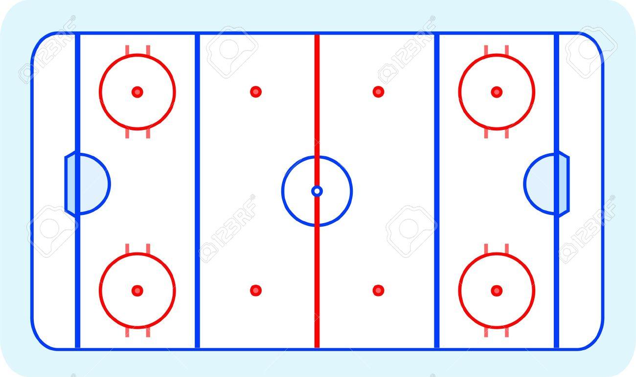 hockey rink clipart