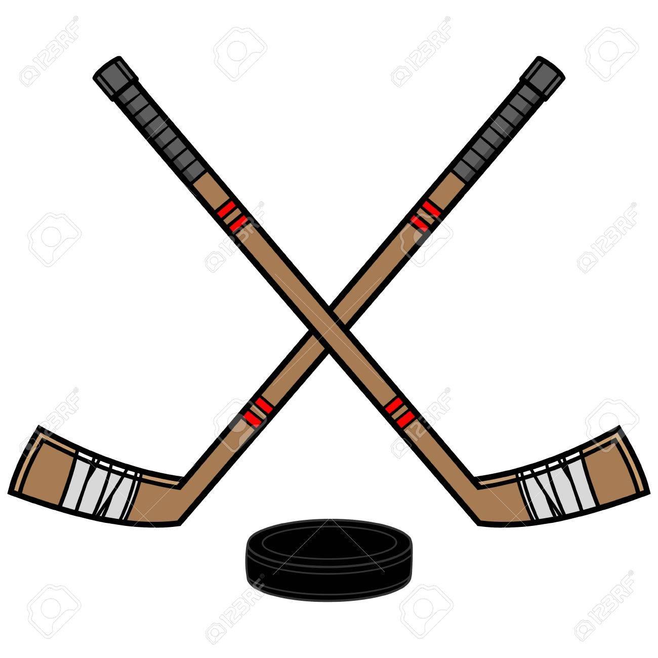Hockey Sticks and Puck.