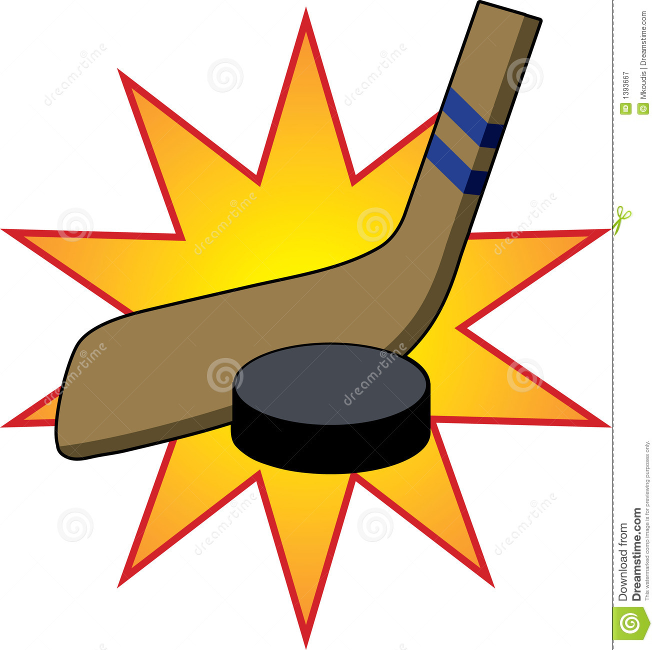 555 Hockey Stick free clipart.