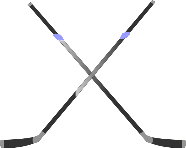 Crossed Field Hockey Sticks.