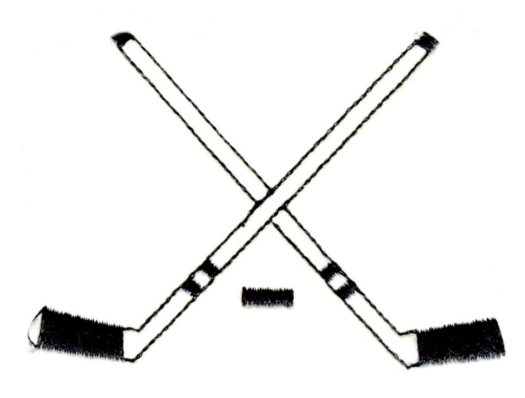 Crossed Field Hockey Sticks.