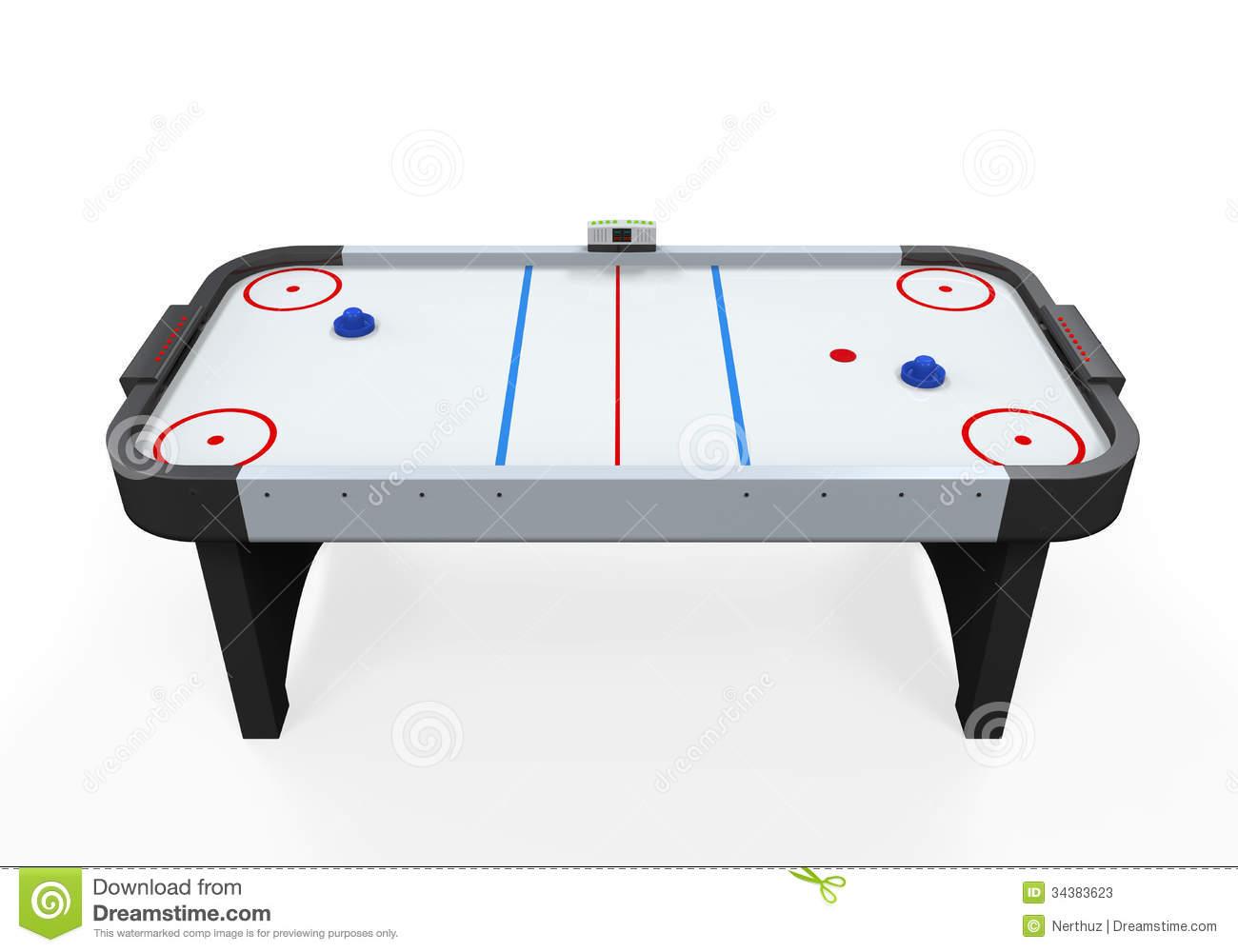 Air Hockey Table Clipart.