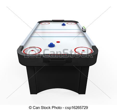 Clip Art of Air Hockey Table Isolated.