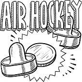 Air Hockey Table Clip Art.