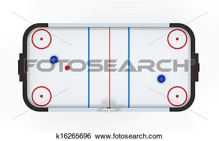 Stock Illustration of Air Hockey Table Isolated k16265696.