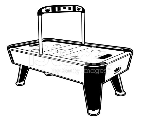Air hockey clipart.