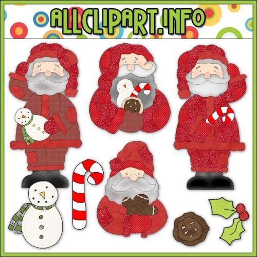 Hodge Podge Santa Prim Clip Art.