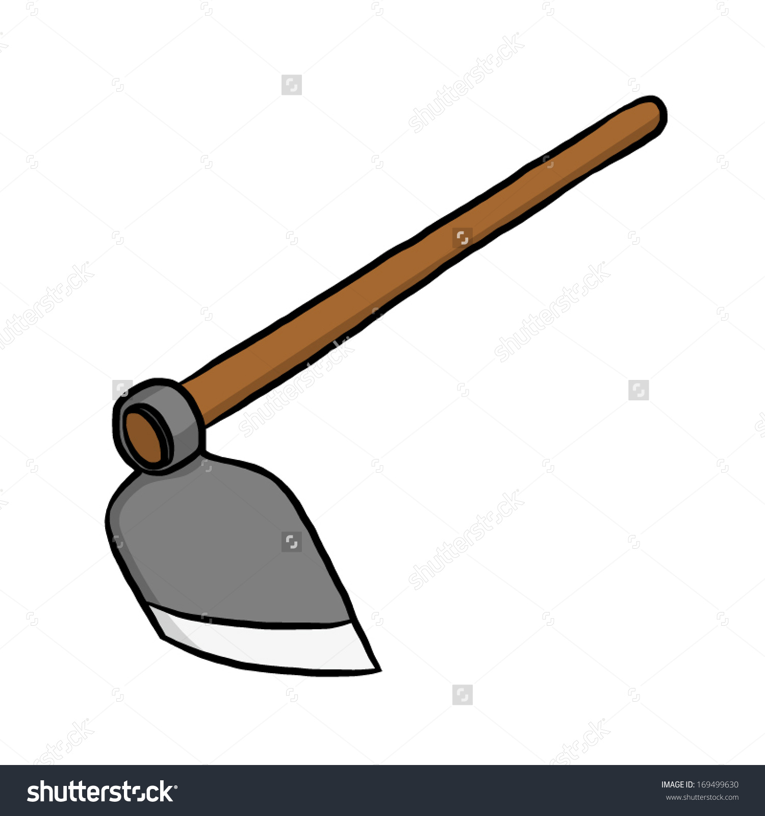 Hoe clipart clipground for Gardening tools drawing