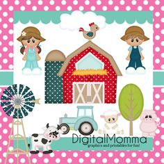 Shopping Girl ClipArt Instant Download Personal door DigitalMomma.