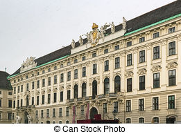 Stock Photo of St. Michael's Wing Of Hofburg Imperial Palace.