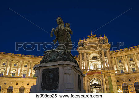 Stock Image of Hofburg palace vienna is098qb25.