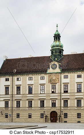 Stock Photography of Hofburg Palace, Vienna.
