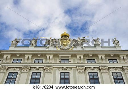 Stock Photo of Hofburg Palace Imperial Chancellory Wing k18178204.