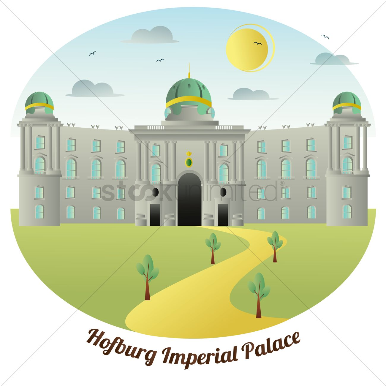Hofburg imperial palace Vector Image.