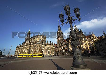 Picture of Germany, Saxony, Dresden, Theaterplatz, Theatre Square.
