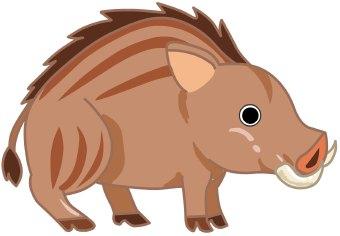 Boar hog clipart.