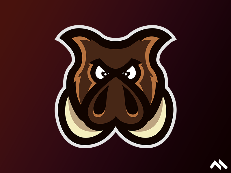 Hog Mascot logo by Matt H on Dribbble.