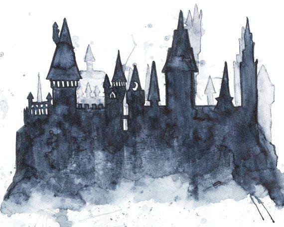 hogwarts castle silhouette clipart Castle Harry Potter Hogwarts.