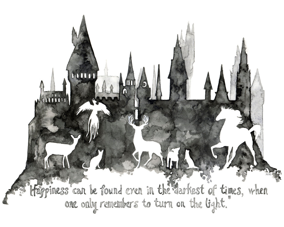 Hogwarts Silhouette Clipart.