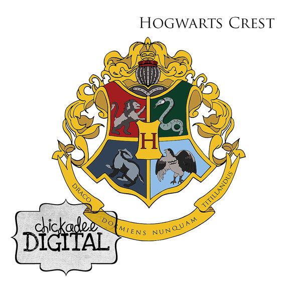 Harry Potter Hogwarts Crest Clipart, Harry Potter Houses Clip art.