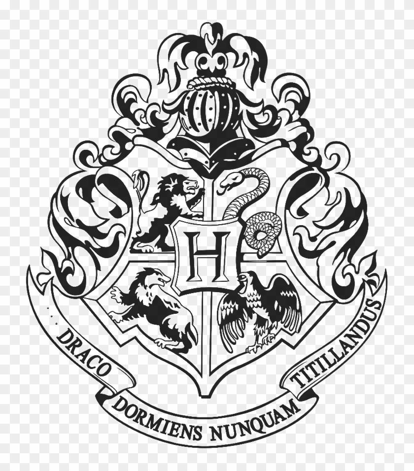 Hogwarts Logo Black And White Png.