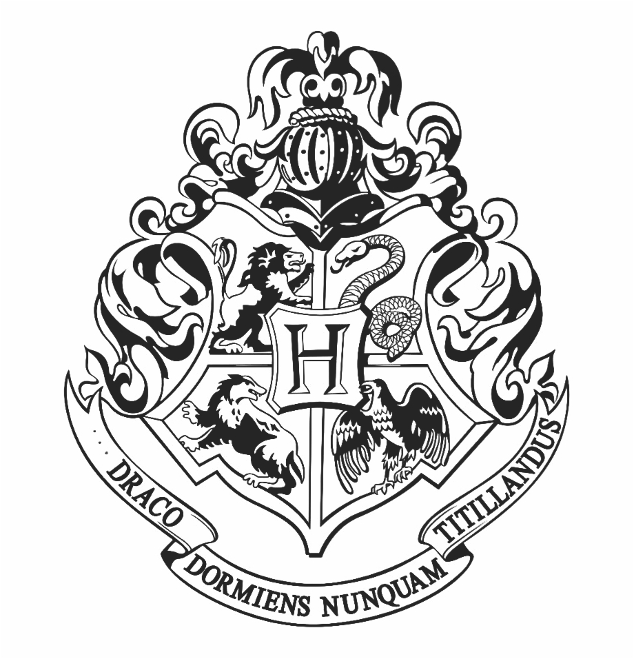 Hogwarts Logo Black And White Png.