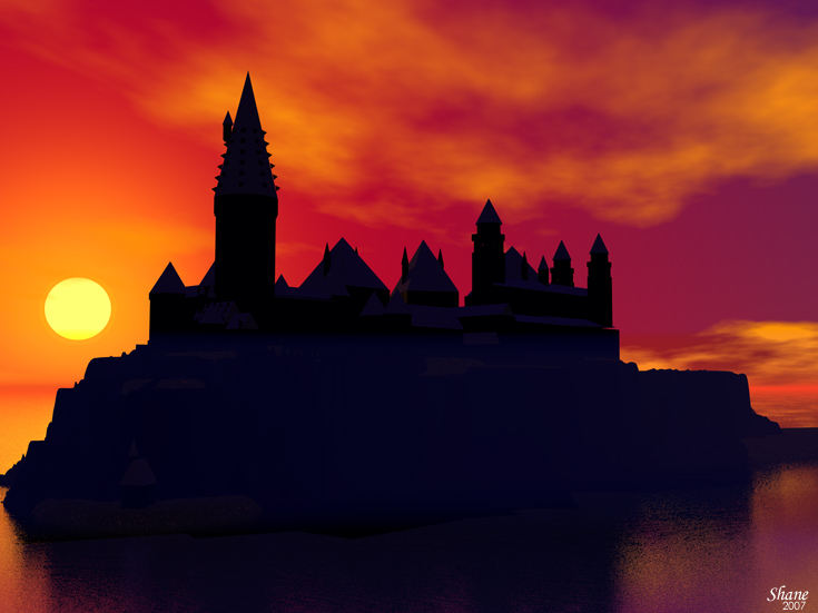 Hogwarts Silhouette Clipart Good Resolution Clipground