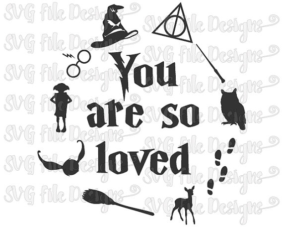 Harry Potter You Are So Loved Hedwig Patronus Wand Scar Decal.