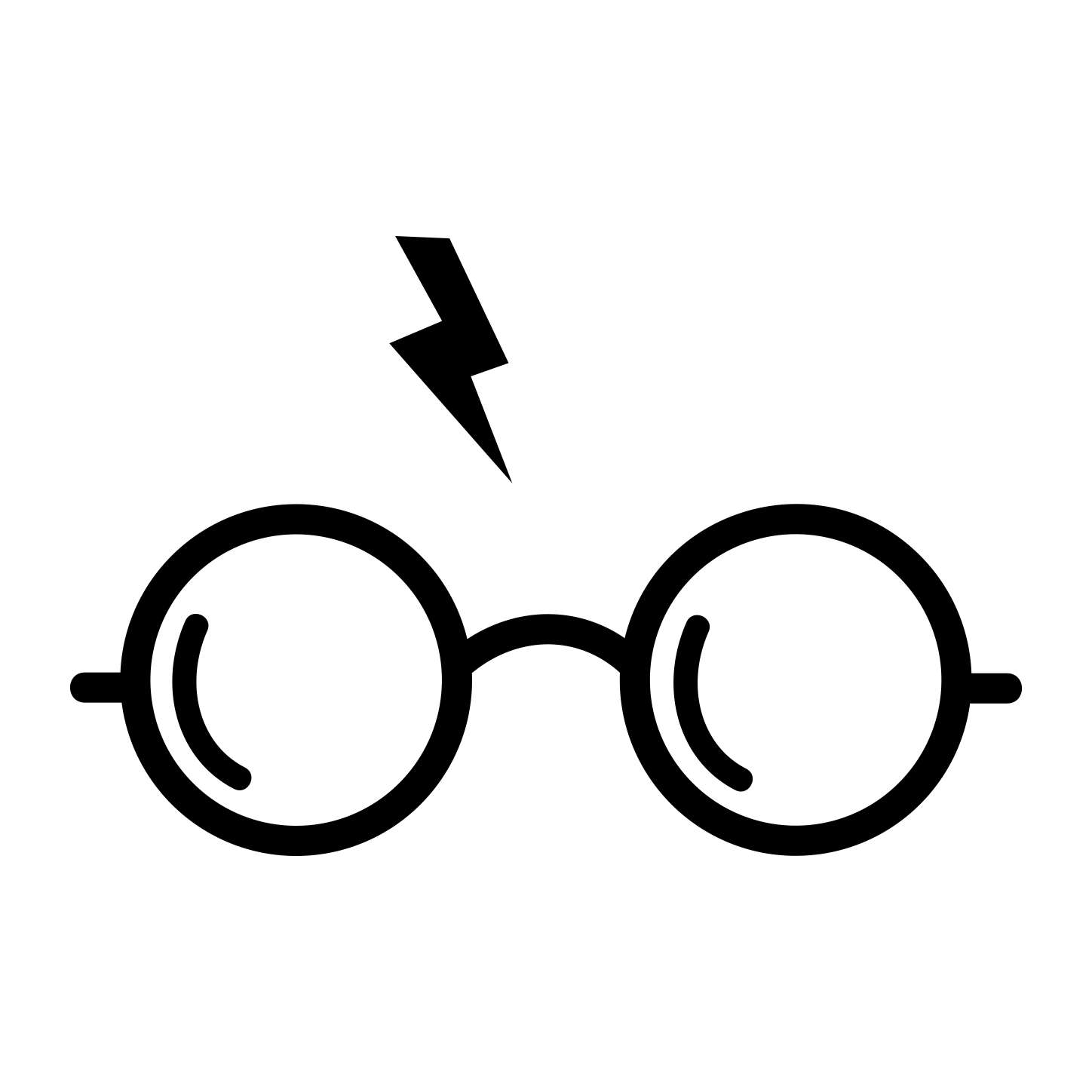 Harry Potter Glasses Graphics SVG Dxf EPS Png Cdr Ai Pdf Vector.