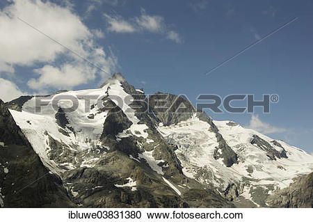 Stock Photography of Mt Grossglockner, Hohe Tauern or High Tauern.