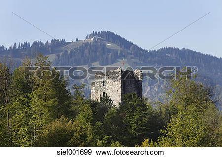 Stock Photograph of Germany, Bavaria, Swabia, Allgaeu, Oberallgaeu.