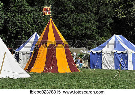 "Stock Image of ""Knights' tents, historical Staufer or Hohenstaufen."