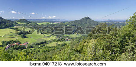 "Pictures of ""Panorama view, from Hornberg ob the the Kaiser."