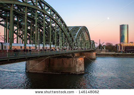 Hohenzollern Bridge Stock Photos, Royalty.