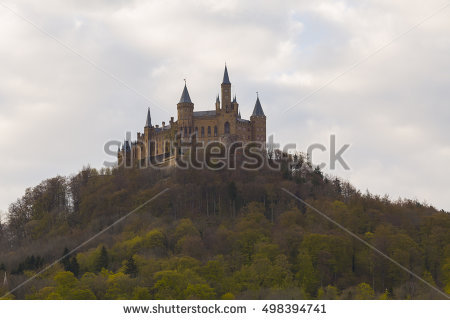 Hohenzollern Castle Stock Images, Royalty.