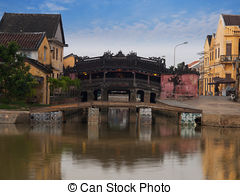 Picture of Hoi An ancient town with Chinese architecture, Vietnam.